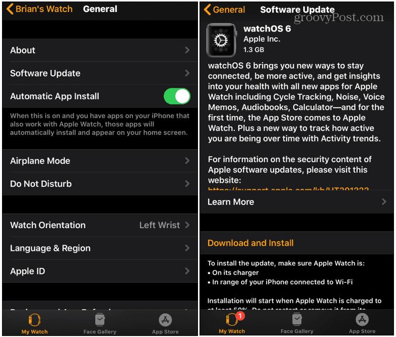 Nasıl Güncelleştirilir? Apple Watch 6'yı izlemek için 1