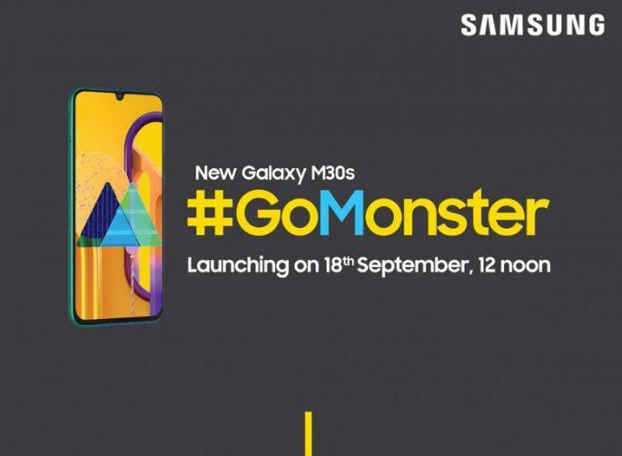 Samsung Galaxy M30S, 18 Eylül'de sunulacak ve 6.4 inç ekran, 48 megapiksel kamera ve 6000 mAh pil ile gelecek 1