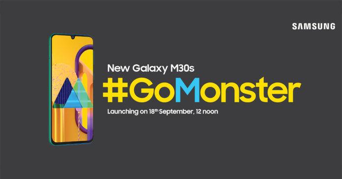 Samsung Galaxy M30s teaser görüntüsü