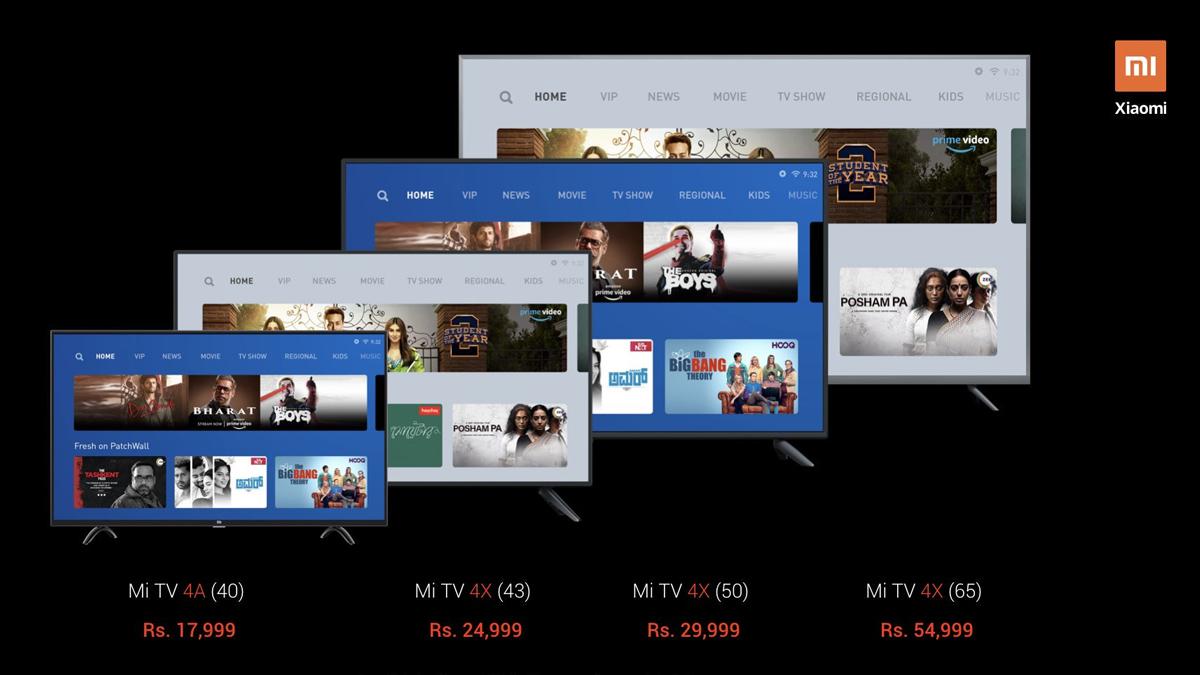 Xiaomi Mi TV 4X serisi 65 inç, 50 inç ve 43 inç Hindistan'da piyasaya sürüldü 1