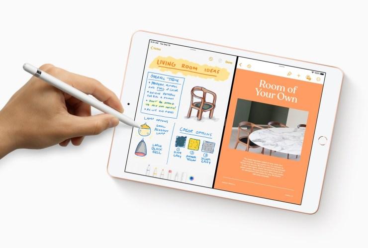 Apple  iPad 7 ile Apple Kalem