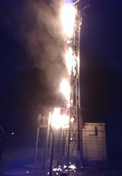 Idiots continue to damage critical masts