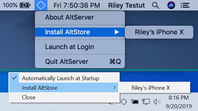 Instale o AltStore
