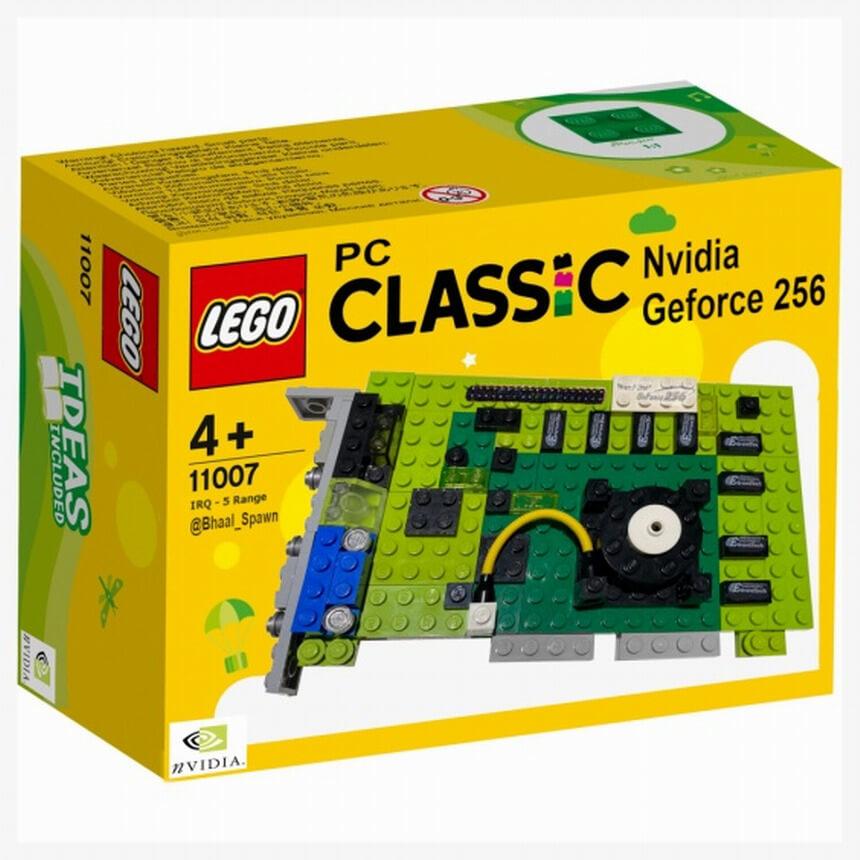"""A """"primeira GPU do mundo"""", a Nvidia GeForce 256 recriada em LEGO"""