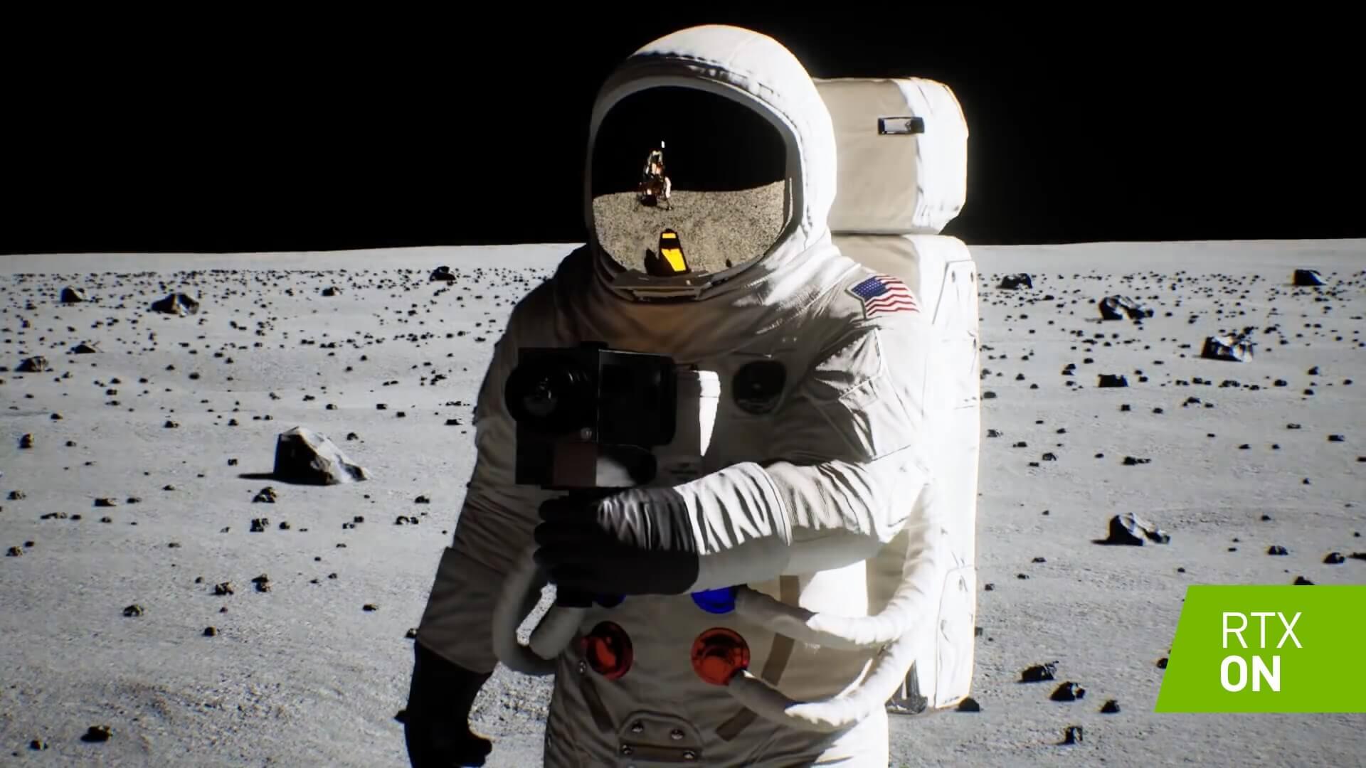 Agora, a demonstração da tecnologia NVIDIA Apollo 11 Moon Landing Tech ...