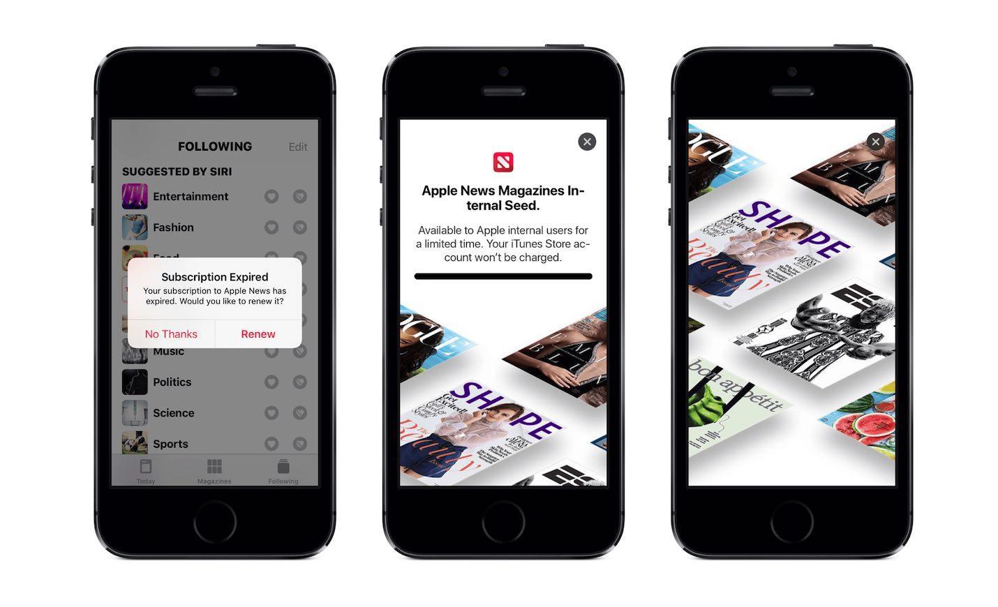 Aplicativo Apple News para apresentar o recurso de assinaturas de revistas