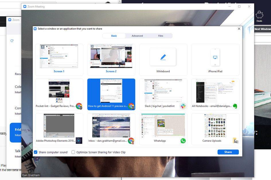 Como compartilhar um vídeo do YouTube ou outro áudio no Zoom