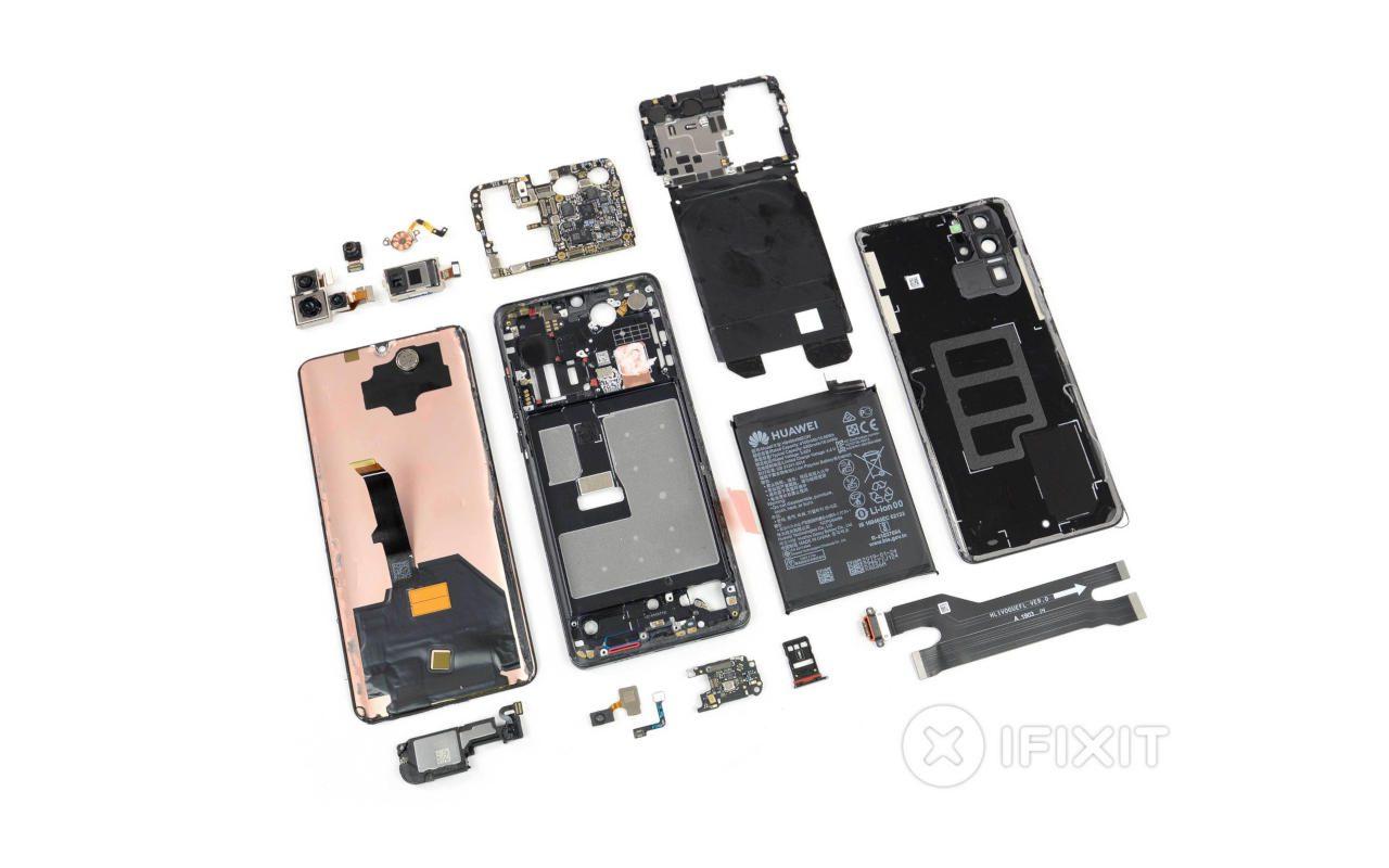 Desmembramento do Huawei P30 Pro iFixit revela opções interessantes de design