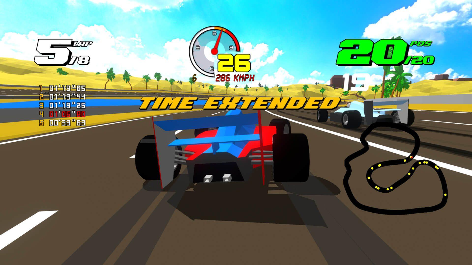Formula Retro Racing é um jogo de corrida retrô que se parece com ...