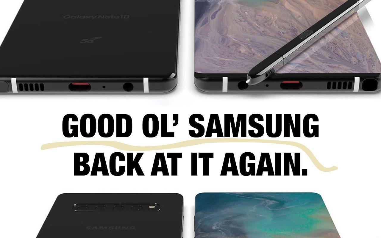 Galaxy Note 10: Uma nova variedade de opções