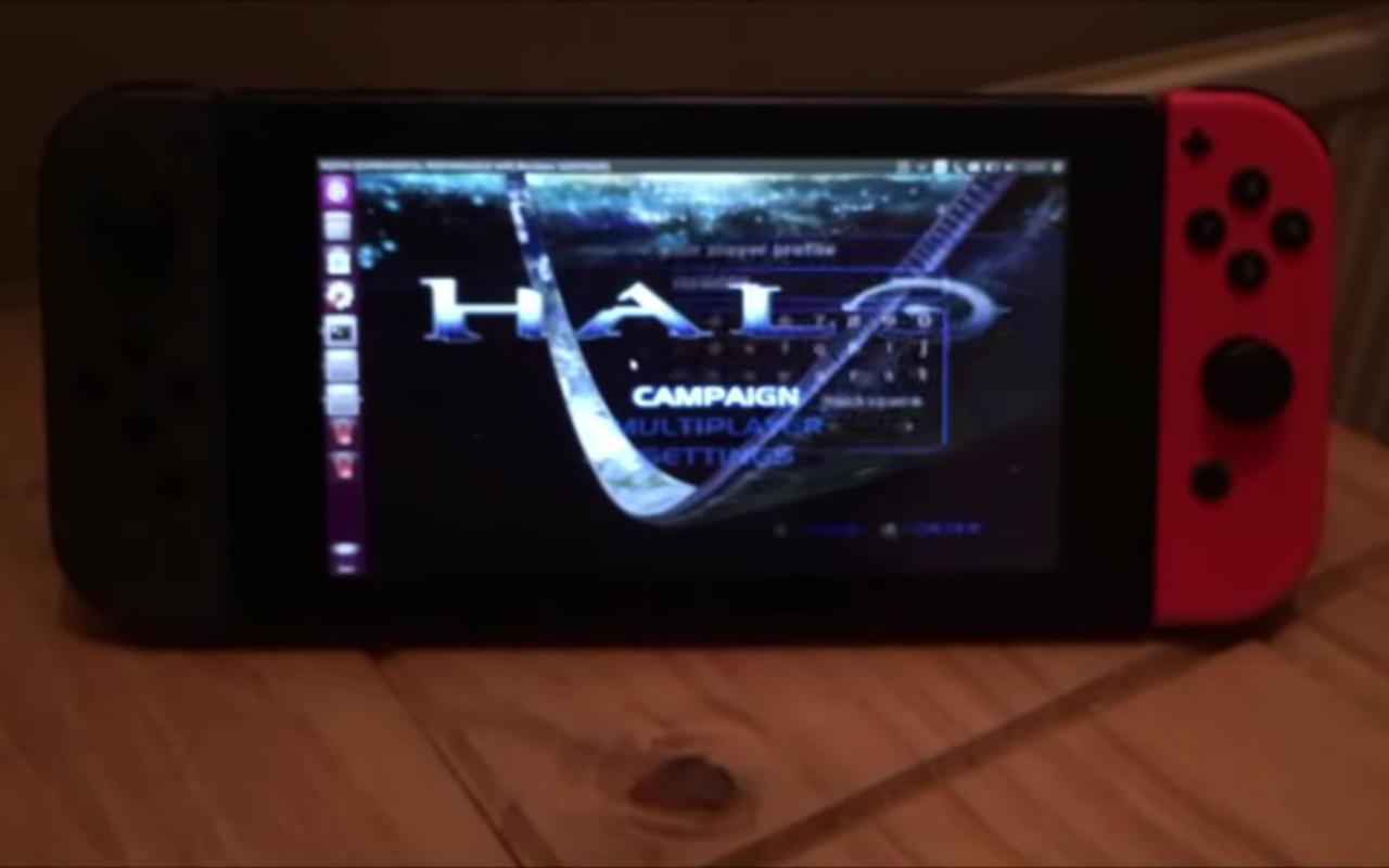 Nintendo Switch feito para rodar Halo via emulador XQEMU no Linux