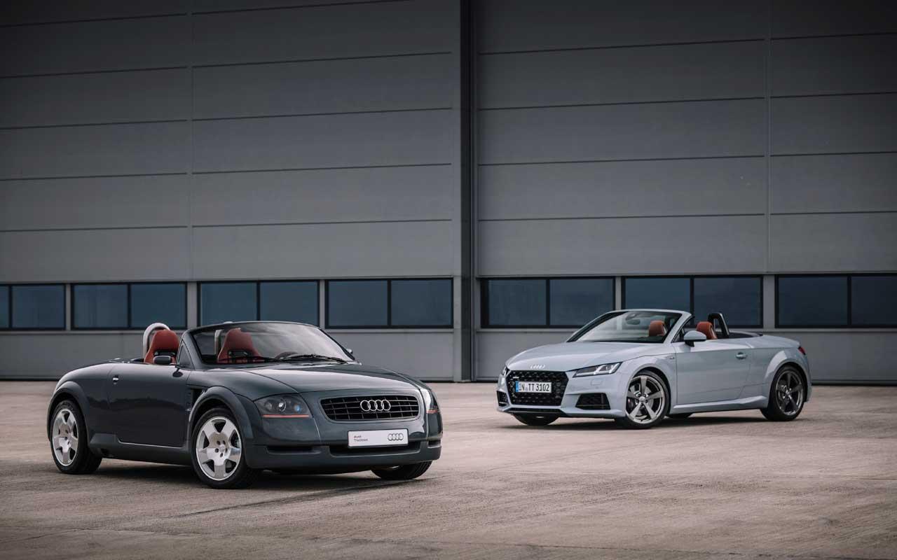 O Audi TT 20th Anniversary Edition de 2020 fica todo vestido até ...