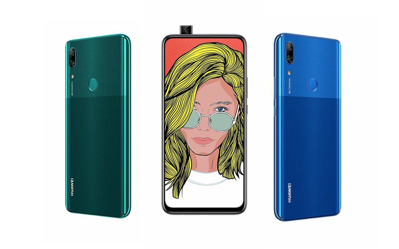O Huawei P Smart Z com sua câmera pop-up aparece no ...