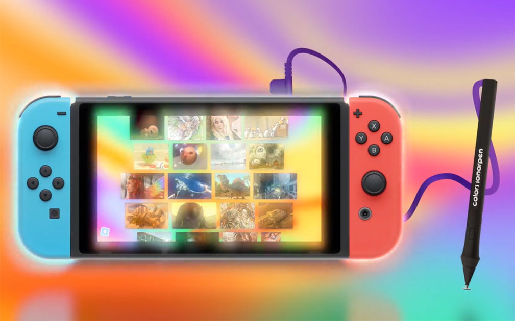 O aplicativo de pintura Colors Live traz caneta sensível à pressão para o Nintendo Switch