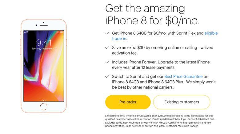 O iPhone 8 da Sprint pode ser seu agora gratuitamente com ...