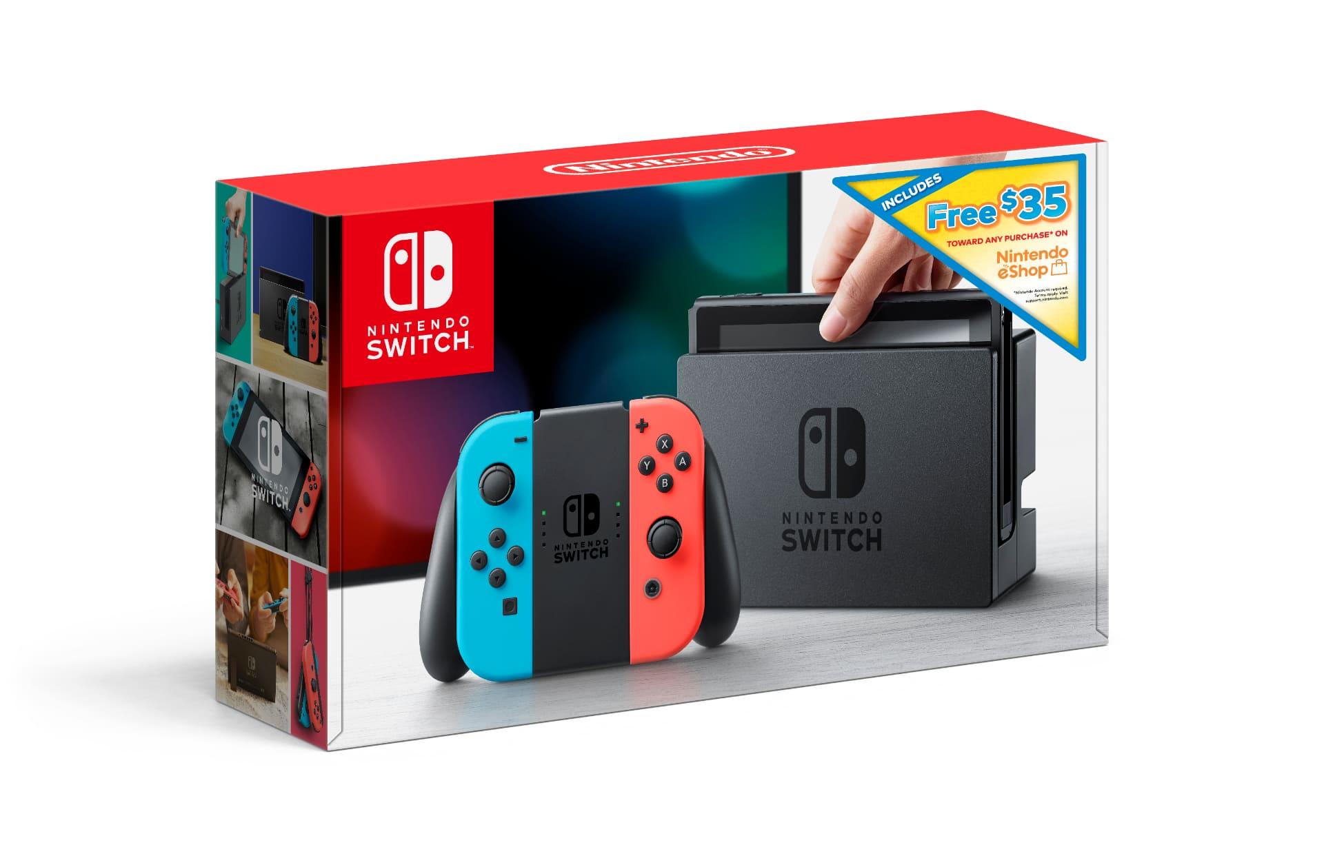 O pacote Nintendo Switch de entrada inclui bônus de crédito na eShop