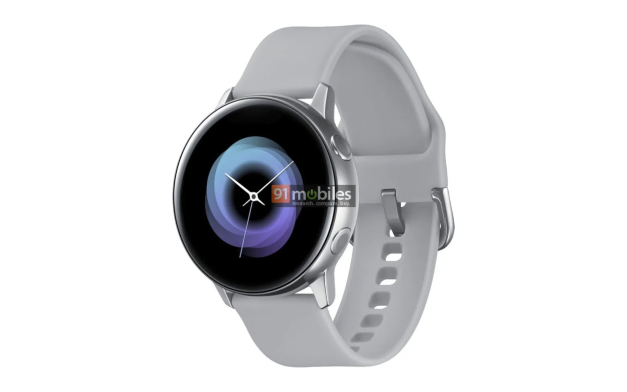 O smartwatch Galaxy Sport render mostra um design menos esportivo