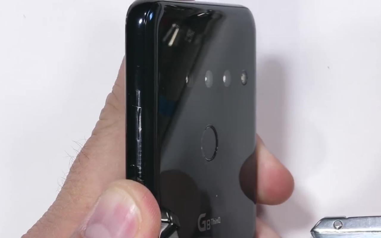 O teste de durabilidade do LG G8 ThinQ é bom, sem problemas