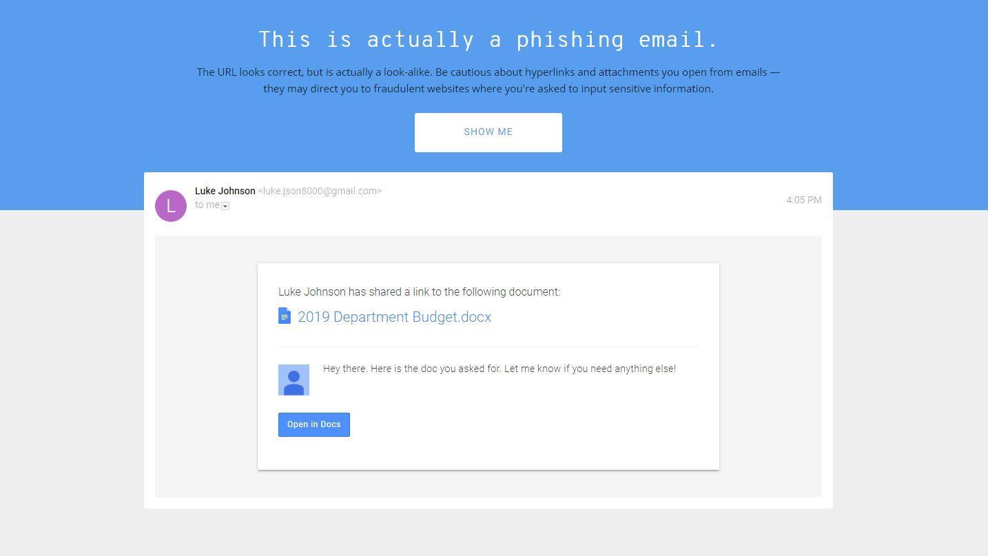 O teste do Google testa sua capacidade de detectar golpes de phishing