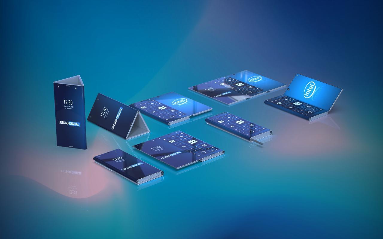 Patente de telefone dobrável da Intel mostra como torná-lo utilizável