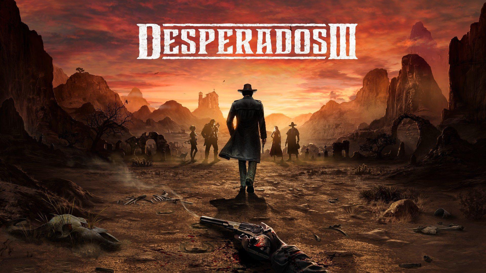 Quebra-cabeças violentos e um grupo de cinco em Desperados III
