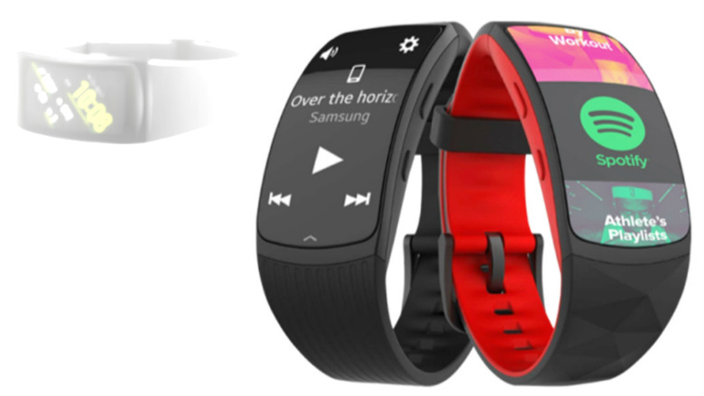 Samsung Gear Fit 2 Pro vazou, parece série de bandas de fitness ...