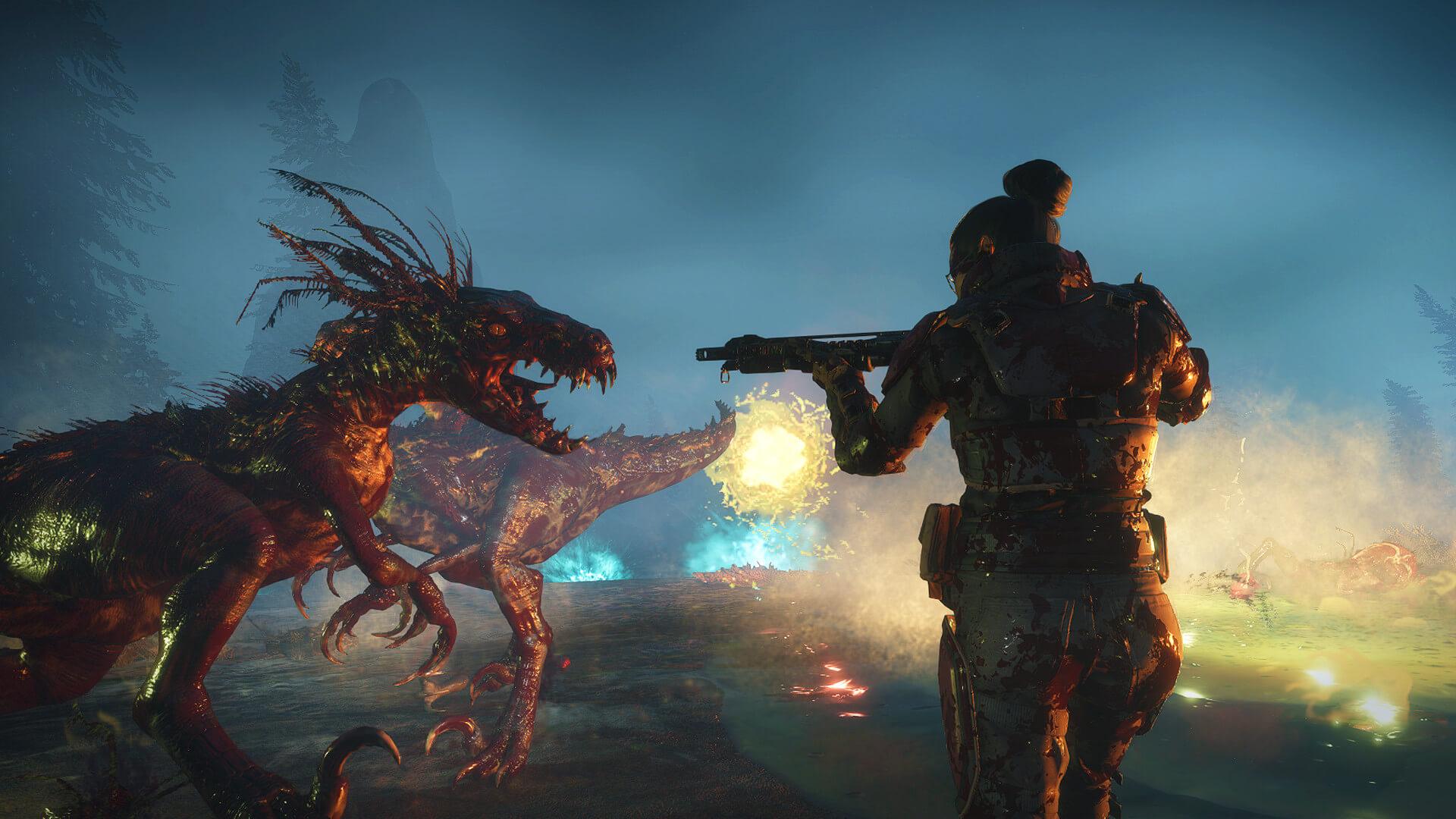 Second Extinction é um FPS cooperativo no qual você luta contra dinossauros, ...