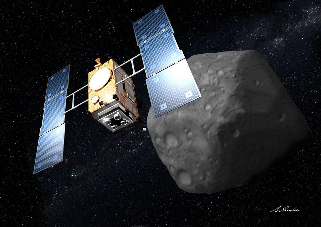 Sonda espacial Hayabusa2 do Japão acaba de lançar uma bomba em um asteróide