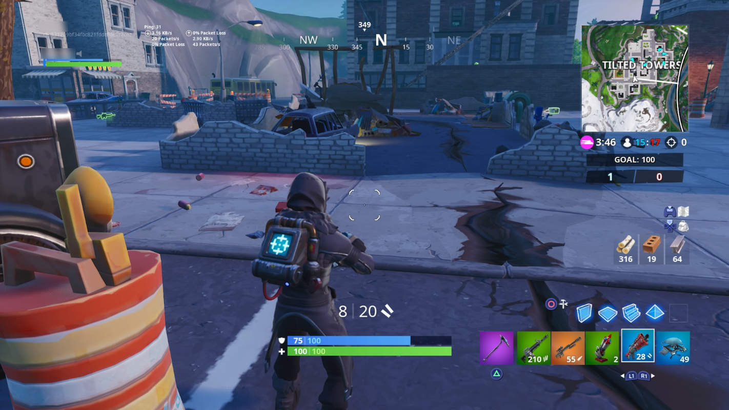 Fortnite earthquake destroys Tilted Towers' most ill-fated building