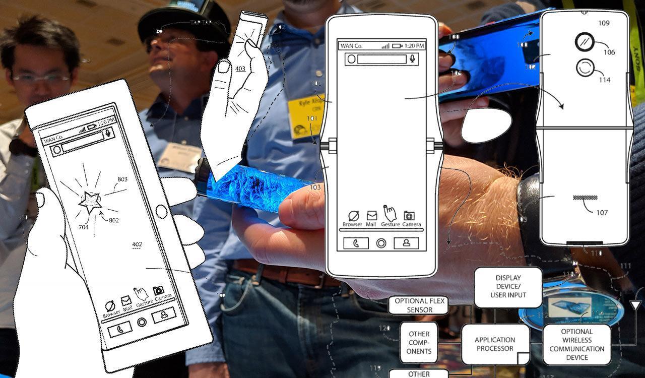 Vários telefones dobráveis RAZR 2019 aparecem nos desenhos da Motorola