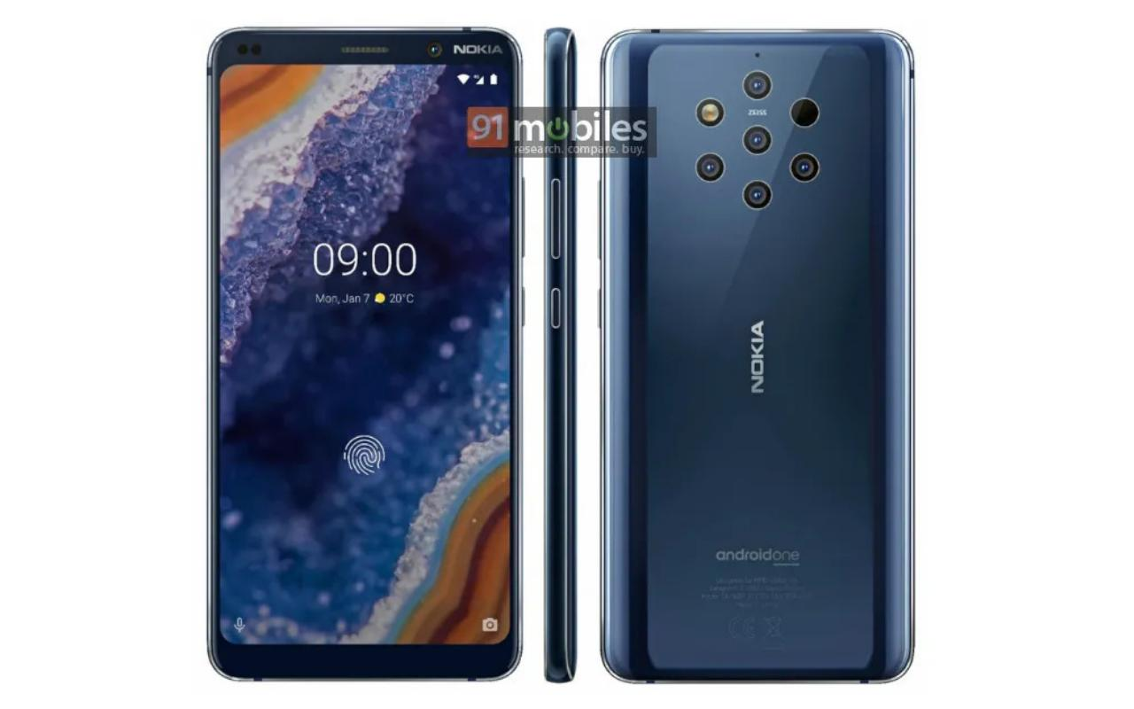 Vazamento de renderização da impressora Nokia 9 PureView confirma a insanidade