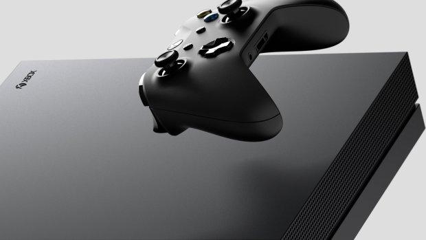 Arte-chave dos recursos do console Xbox One X