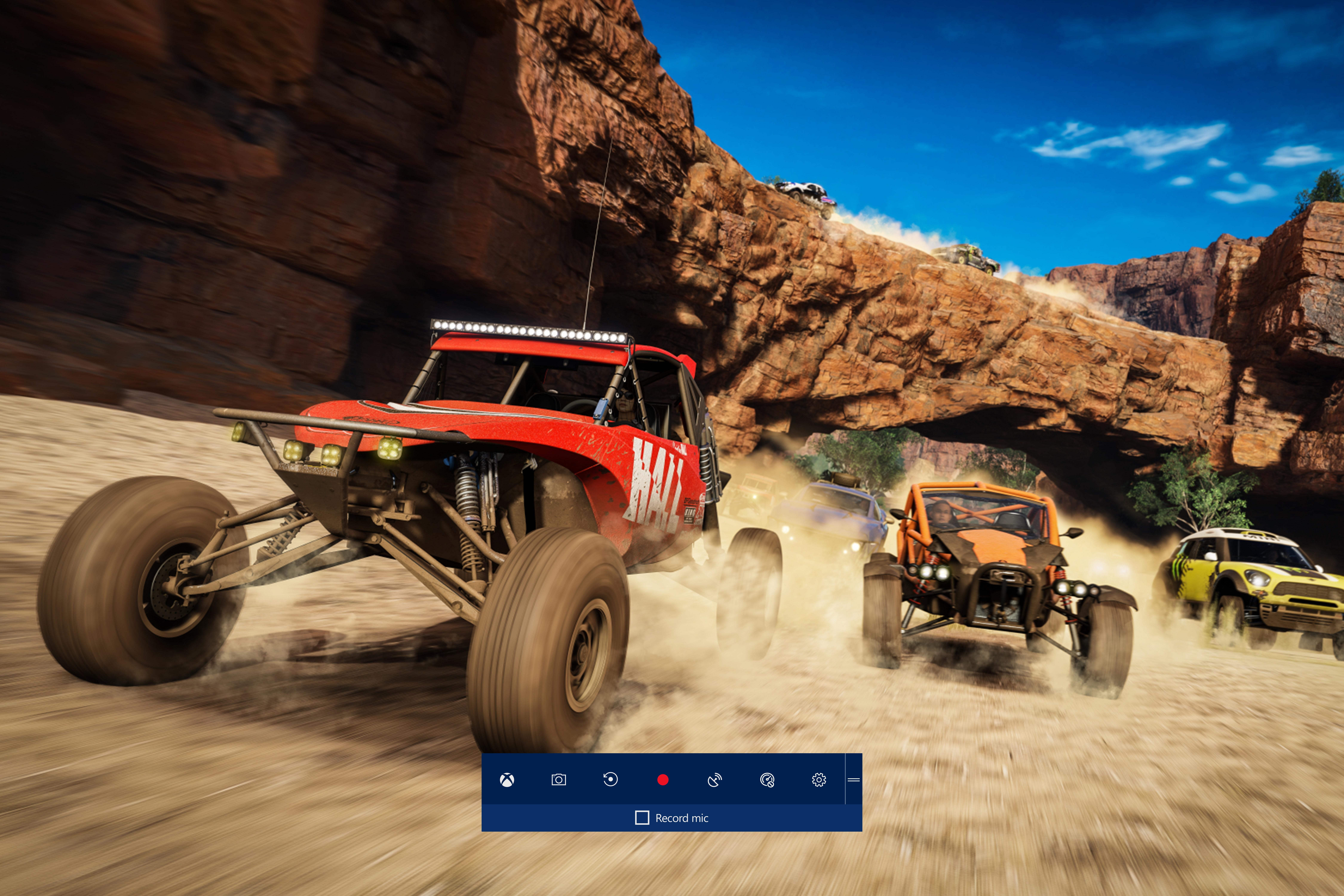 Barra de jogo mostrada no jogo de corrida Forza