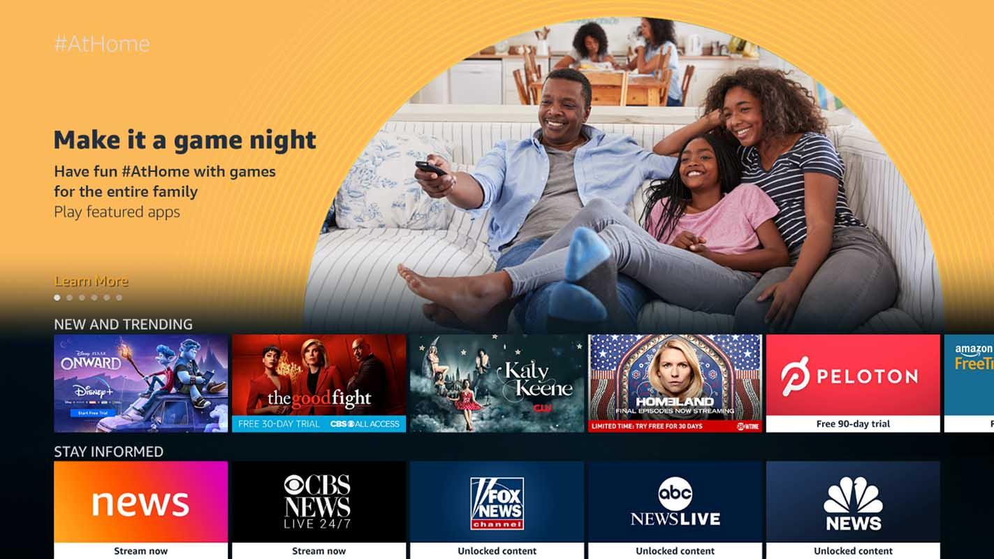 A nova seção AtHome da Fire TV organiza shows gratuitos dos principais parceiros
