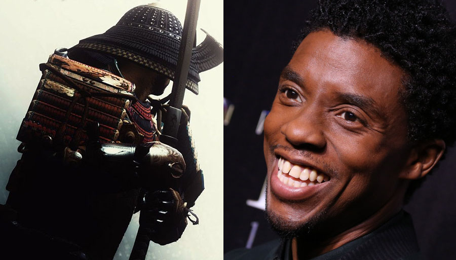 Chadwick Boseman interpretará Samurai Africano no filme