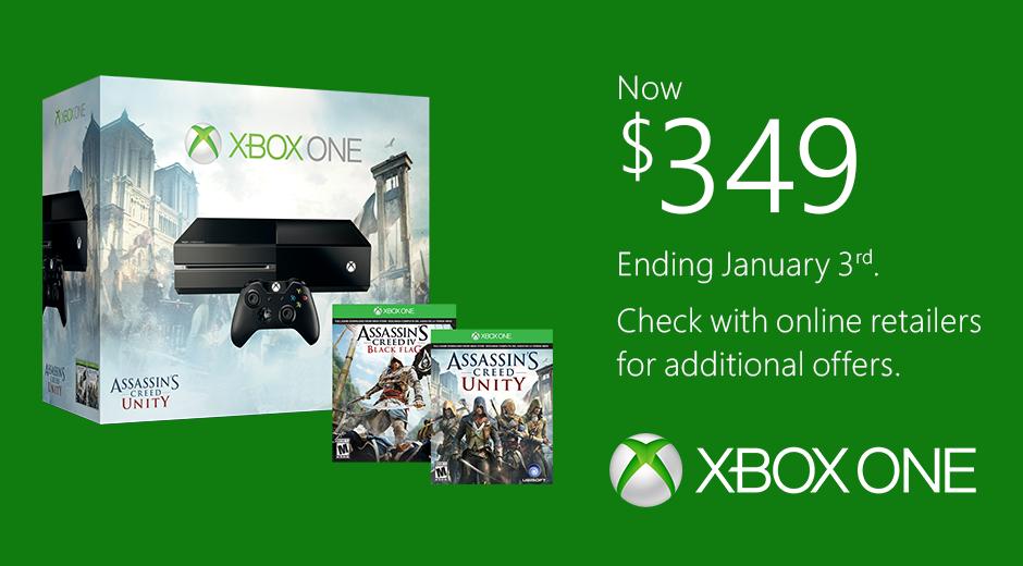 Chance final de comprar o Xbox One a partir de US $ 349
