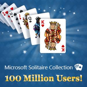 Coleção Microsoft Solitaire atinge 100 milhões de usuários únicos