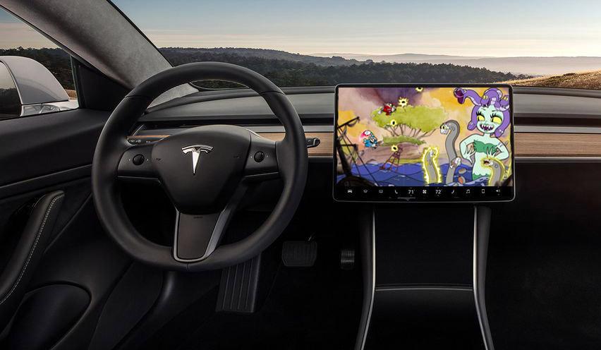 Cuphead está sendo portado para carros Tesla