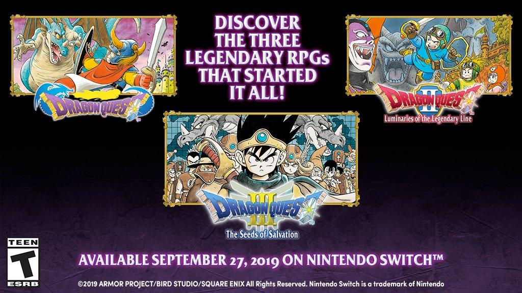 Dragon Quest I, Dragon Quest II e Dragon Quest III para ...