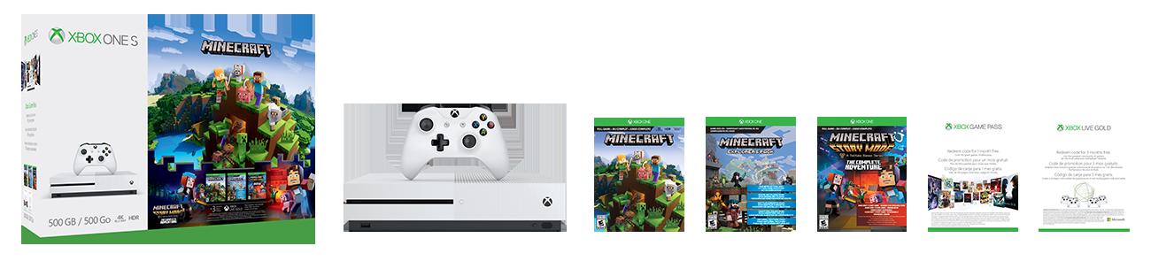 Pacote completo de aventura para Xbox One S Minecraft