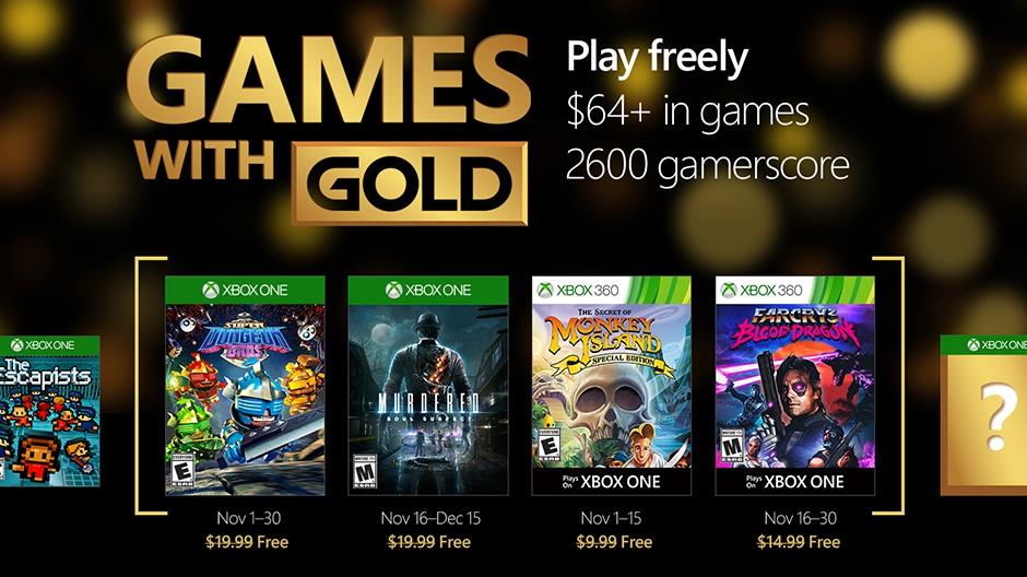 Festa nos jogos de novembro com a programação Gold