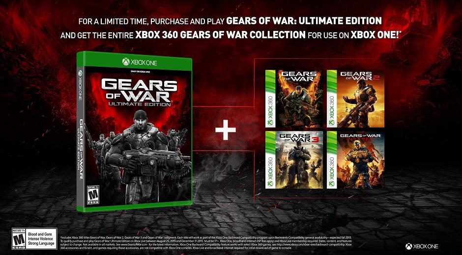 """""""Gears of War: Ultimate Edition"""" vem com toda a coleção """"Gears"""" para ..."""