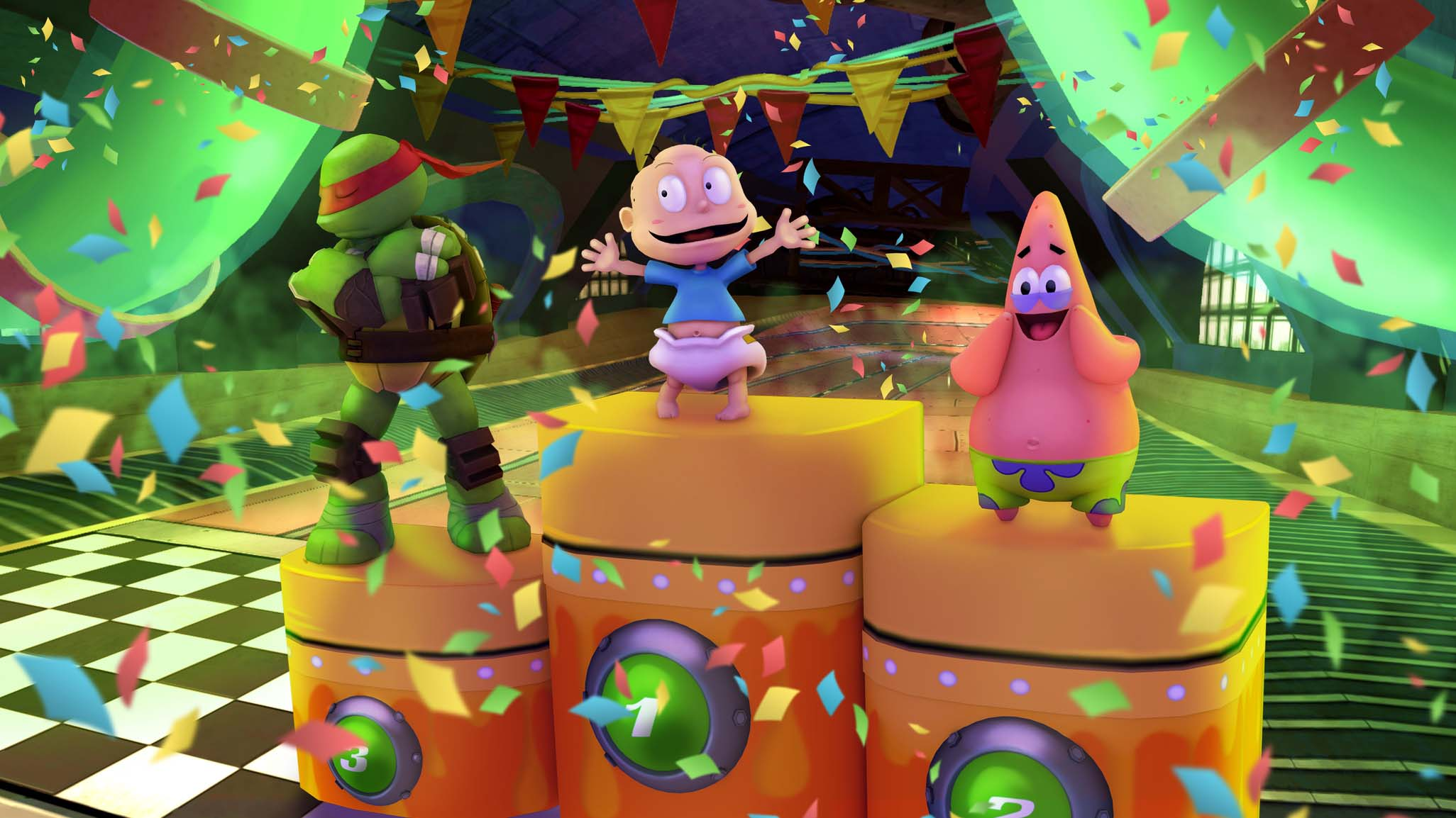 Jogabilidade de estreia para Nickelodeon Kart Racers