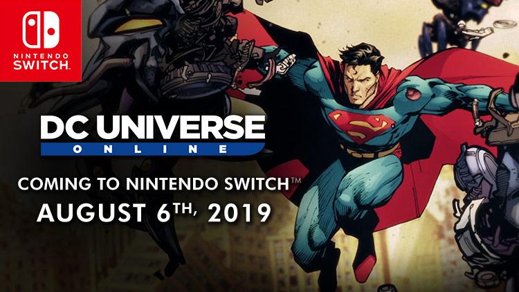 Lançamento do DC Universe Online para Switch em 6 de agosto