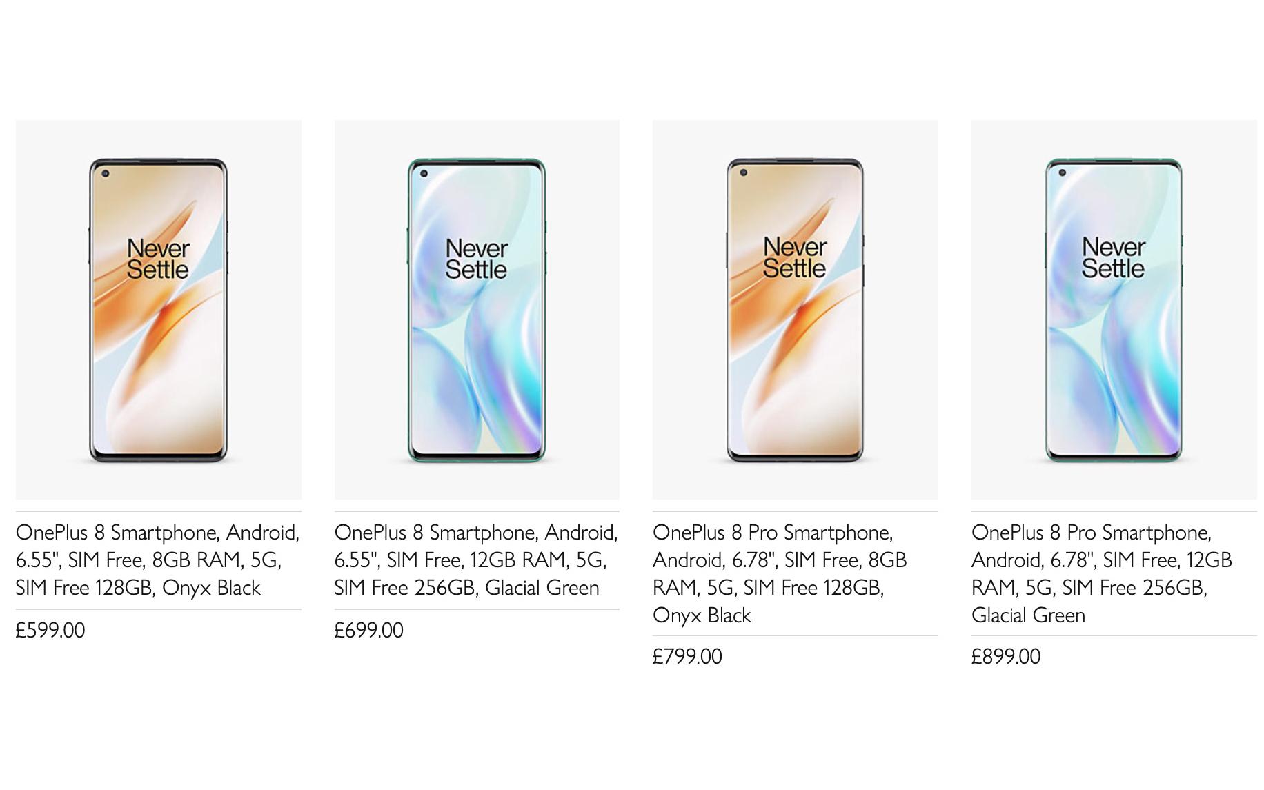 Nem oficialmente anunciada, a nova linha OnePlus 8 já está ...