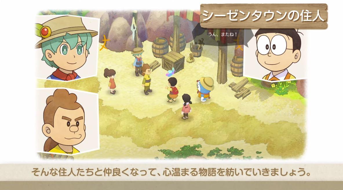 Novo trailer de Doraemon Story of Seasons concentra-se nas interações dos personagens