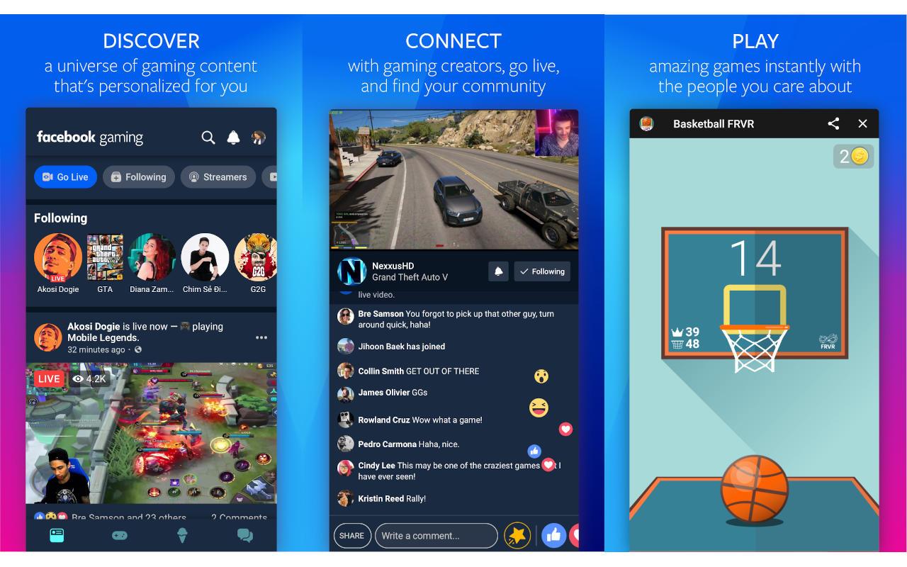 O aplicativo móvel Facebook Gaming está chegando mais cedo do que você pensa