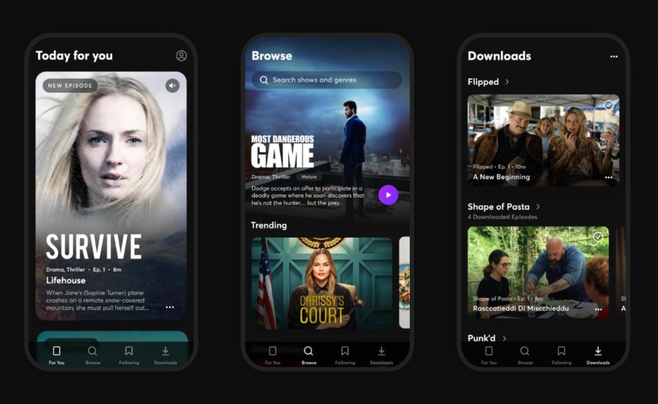 O serviço de streaming Quibi para telefones suportará em breve transmissão de TV