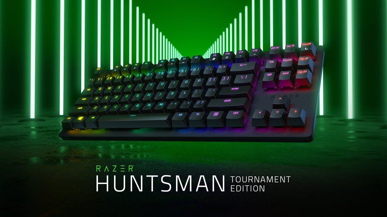Teclado Razer Huntsman Tournament Edition mais curto e mais rápido anunciado