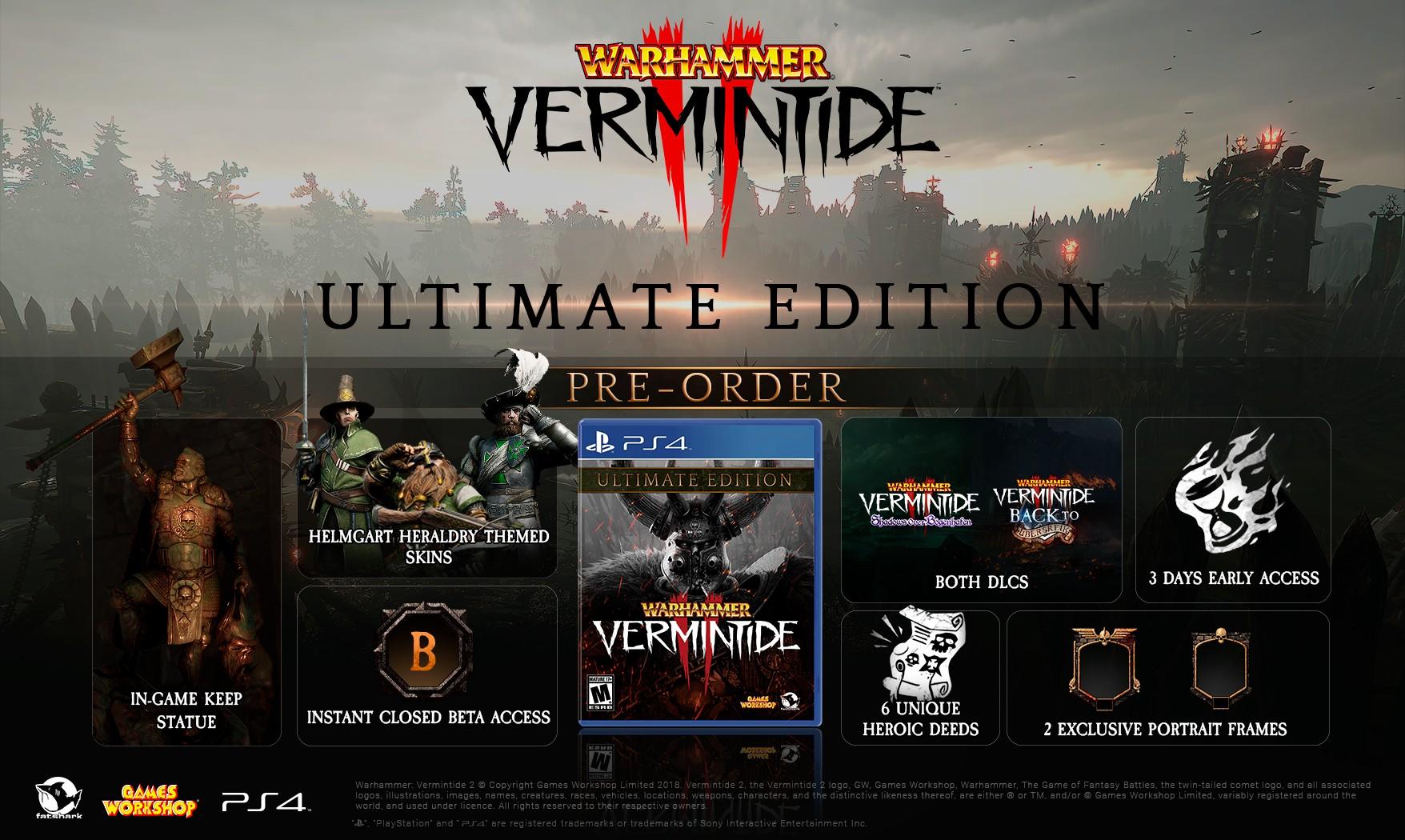 Warhammer: Vermintide 2 lança para PS4 em 18 de dezembro